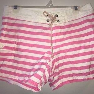 J. Crew Pink/White Stripe Shorts